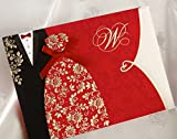 Wishmade 100X Red Wedding Invitations Cards Kit With Envelopes and Seals CW1051