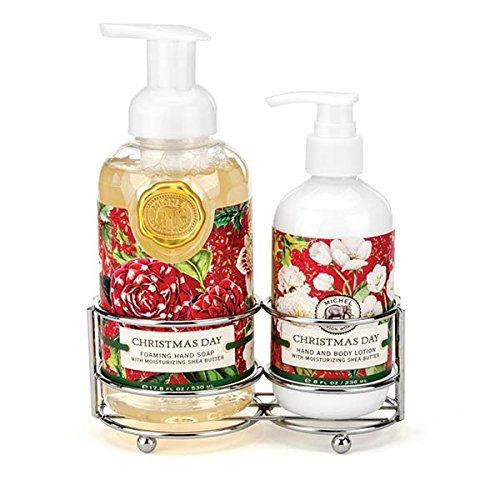 Michel Design Works Scented Foaming Hand Soap and Lotion Caddy Gift Set, Christmas Day