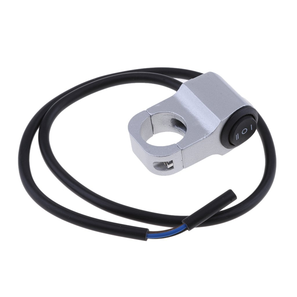 Negro D DOLITY Interruptor de Faro de Manillar de Motocicleta de Aluminio 12v 7//8 Ajustable