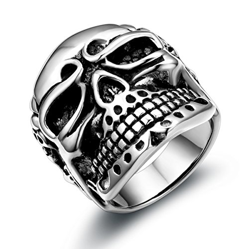 JewelryWe Herren Totenkopf Ring