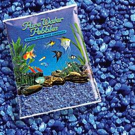 Pure Water Pebbles Nature's Ocean Aquarium Gravel Marine Blue Gravel 5lb Bag ()