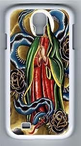 La Virgen Custom Samsung Galaxy I9500/Samsung Galaxy S4 Case Cover Polycarbonate White
