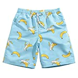 Mens Ultra Quick Dry Banana Feast Fashion Board Shorts Medium 33-34 Sky Blue