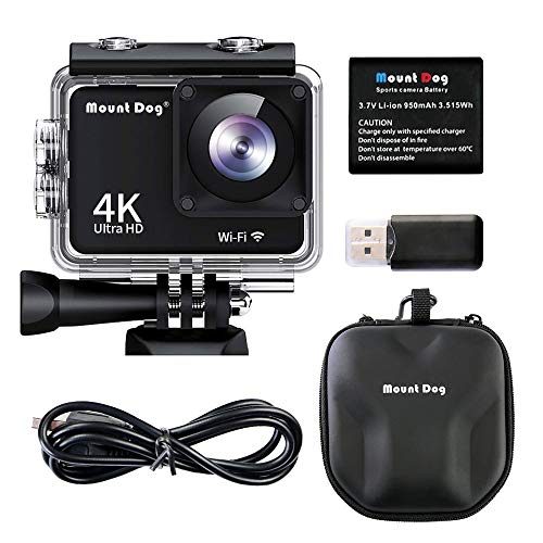 MOUNTDOG Action Camera 4K/16MP Underwater Waterproof 30M Camera with 2'' LCD Wide Angle View, 1080P Full HD Sport Camcorder with 10M WiFi Wireless Control and Portable Camera Bag by MOUNTDOG (Image #8)