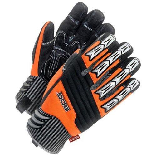 Bob Dale 20-1-10690-L BDG Site Glove with Hi-Viz Performance Backhand Protection, Large, Black/Orange by Bob Dale B00JPGG6V2