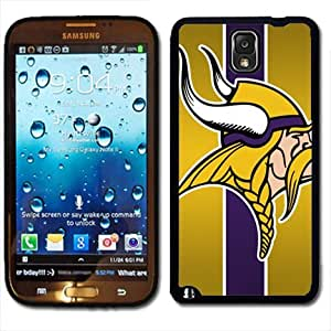 Samsung Galaxy Note 3 Black Rubber Silicone Case - Minnesota Vikings Football