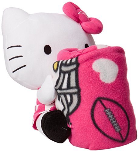 (The Northwest Company NFL San Diego Chargers Hello Kitty Fleece Throw with Hugger, 40 x 50-Inch, Pink)