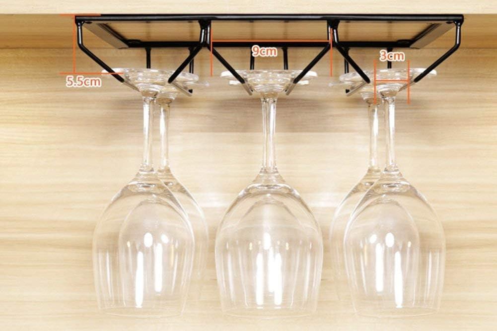 WIN&FACATORY IJzer Black Wine Rek Bekerhouder-Bekerhouder-Rode wijn-glas-houder Multifunctionele bar Cabinet kast Ornaments -Wine Glazen rack (grootte: 40cm) 70 cm. 60 cm.