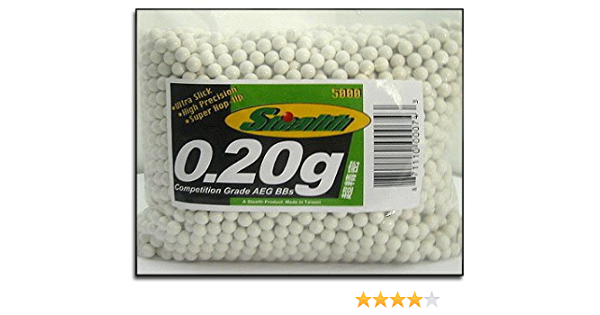 Capacity of 100 Rounds 5000 Airsoft BBS .20g 6mm pellets with Speed Loader