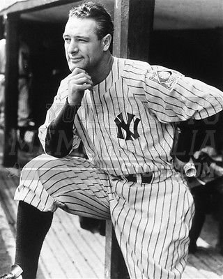 Lou Gehrig Memorabilia - Lou Gehrig New York Yankees dug out pose 8x10 11x14 16x20 photo Iron Horse 008 - Size 8x10