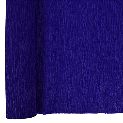 Just Artifacts Premium Crepe Paper Roll - 8ft Length/20in Width (Color: Blue Violet - Violet Blue Yellow