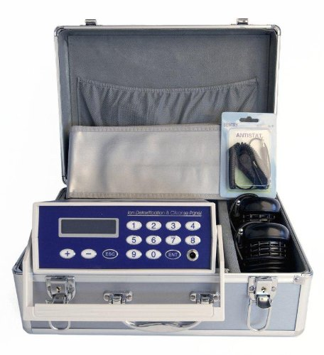 2014 MODEL IONIC CELL DETOX ION CLEANSE AQUA FOOT BATH CELL CHI SPA MACHINE W/ INFRARED BELT & CASE by ZEN LIVING IONICS