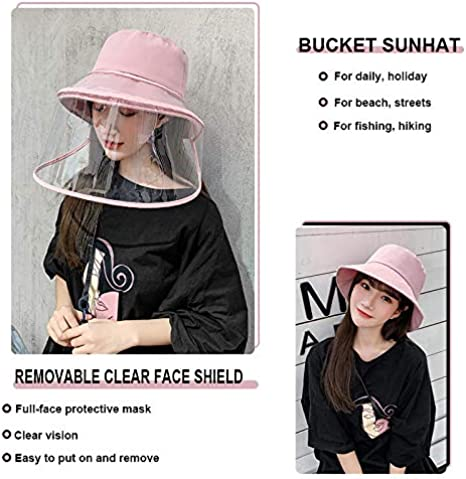 Loash Angwen Unisex Dustproof Sunscreen Straw Removable Protective Hat with Two Face Cover Removable Protective Hat
