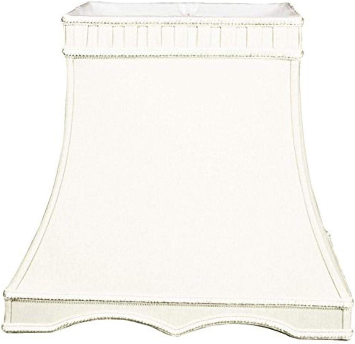 Royal Designs Rectangle Gallery Designer Lamp Shade, White, 11 x 9 x 16 x 11 x 13.5