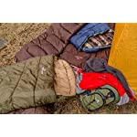 TETON Sports Regular Sleeping Bag; Great for Family Camping; Free Compression Sack 20 COMFORTABLE SLEEPING BAG: Soft lining; Half-circle mummy style hood keeps you warm and your pillow clean; Unzips on each side for airflow and easy access; For camping in three seasons NEVER ROLL YOUR SLEEPING BAG AGAIN: TETON provides a great compression sack for stuffing your sleeping bag; Start at the bottom and stuff the bag in, then tighten the heavy-duty straps STAY WARM IN COLD WEATHER: You'll be warm and rested in this sleeping bag; Innovative fiber fill, double-layer construction and draft tubes work together to keep the warmth in