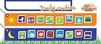 Amazon.com: Kids Daily Routine Charts - Magnetic Behavior Chart ...