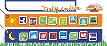 monkey chops kids daily routine charts magnetic refrigerator behavior chart for kids to