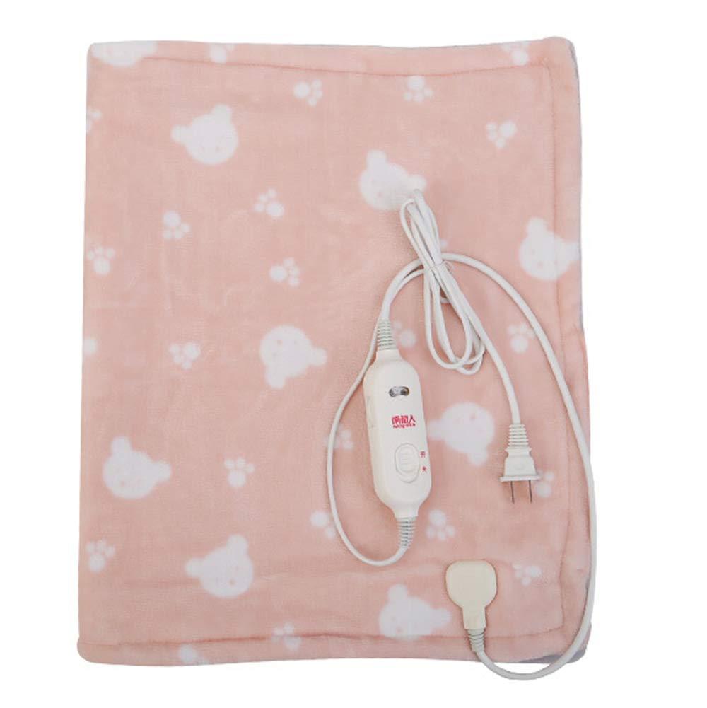 パーソナルヒーターラップショール電気毛布、小さなポータブル、暖かく、癒し、7スピードの温度調節、安定した熱、洗濯機、洗濯可能、マルチカラー、マルチサイズオプション (サイズ さいず : Pink 75 * 60cm) B07JGRZSM5  Pink 75*60cm