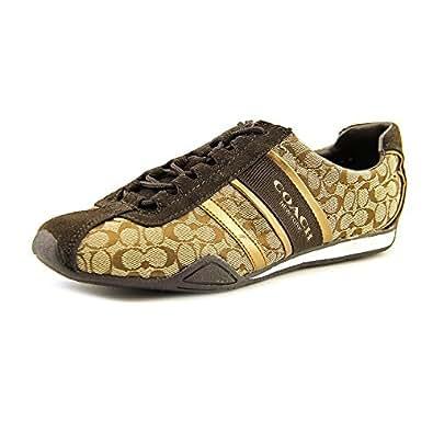 Coach Women's Remonna Signature C Jacquard Sneakers, Style A1945 (Khaki/Bronze) (8.5 M US Women)