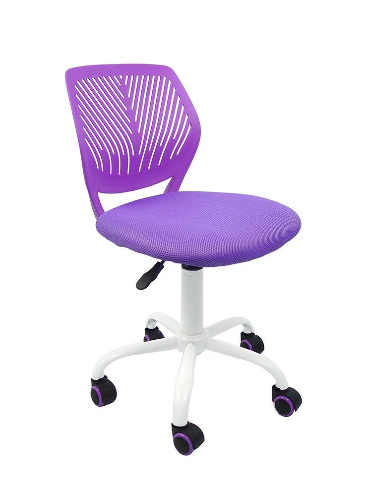 Axraser Office Task Adjustable Desk Chair Mid Back Home Children Study Chair, Purple