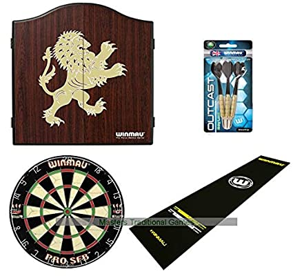 Amazon Com Masters Traditional Games Pub Darts Bundle Cabinet