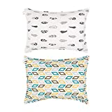 ALVABABY Toddler Pillowcase 2 Pack,100% Organic Cotton,Soft and Light,Baby Shower Gift for Boys and Girls 2Pack 2FTP02-CA