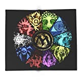 Society6 Magic The Gathering - Faded Guild Wheel 88'' x 104'' Blanket