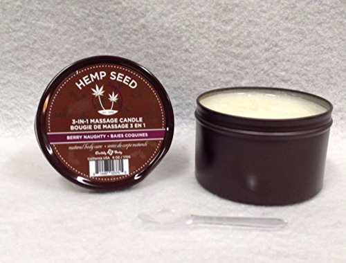 ed 3 In 1 Massage Candle 100% Vegan Berry Naughty 6 Ounce (Body Shop Hemp)