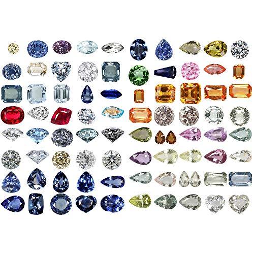 (Seasonstorm Coloured Gemstones Sapphire Waterproof Decor Planner Sticker Pack Post It Notebook Agenda Toy Scrapbooking Stickers (PK136))