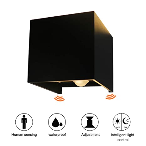 Ralbay LED Apliques De Pared con sensor de movimiento, Impermeable IP65 Lamparas para, Salon