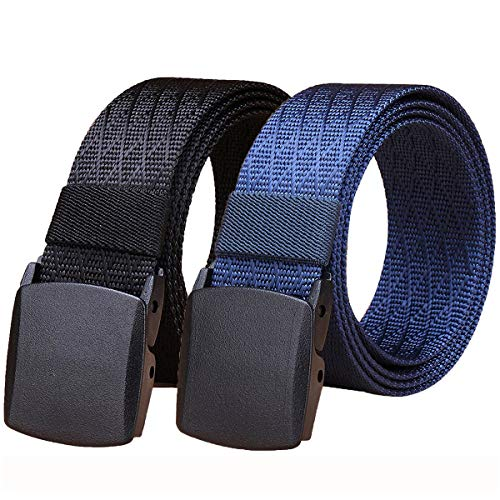 WYuZe 2 Pack Nylon Belt, Outdoor...