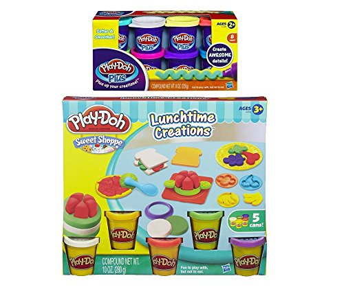 - Play-Doh Sweet Shoppe Lunchtime Creations Play Set + Play-Doh Plus Compound Bundle