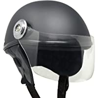 Anokhe Collections Lively Unisex Scooty Helmet for Safety Comfort and Ease (Small, Matte Black)
