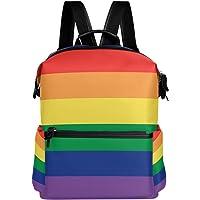 Oarencol Tęczowy kolorowy plecak szkoła torba na książki podróż turystyka kemping laptop plecak dzienny