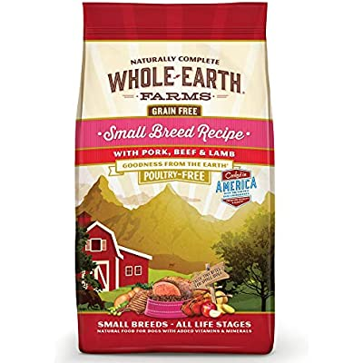 Whole Earth Farms Grain Free Small Breed Dry Dog Food, 4 Pounds