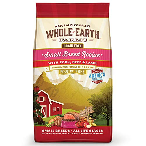 Whole Earth Farms Grain Free Small Breed Recipe With Pork, Beef & Lamb Dry Dog Food, 12 Lbs.