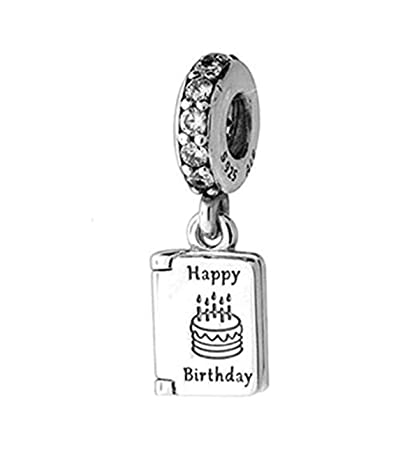 7d013466c MEETCCY Fits Original Pandora Charm Bracelet 925 Sterling Silver Enamel  Pineapple Cup Cake Charm Happy Birthday