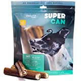 6-inch Monster Bully Sticks [ 8 Pack ] by Super Can Bully Sticks, Extra Large Bully Sticks, 100% Natural Dog Treats and Chews for Aggressive Chewers and Large Dogs For Sale