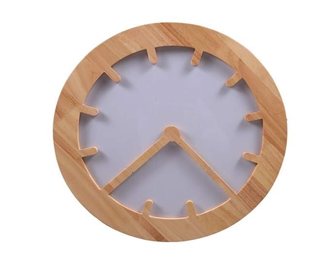 Plafoniere Da Interni A Led : Moderno plafoniera rotonda a led in legno da soffitto con