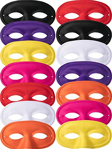 Zhehao 14 Pieces Kids Half Masks Masquerade Mask Christmas Mask Dress Up Costume Boys Girls Mask for Party Favors ()