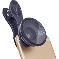 Apexel Cell Phone Lens Kit 20x HD Macro Lens with 45MM Star Filter Lens for iPhone Samsung Andriod and most Smartphone