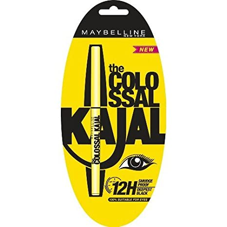 6ba73a794b4 Buy Maybelline The Colossal Kajal Eyeliner Pencil - Black Online at Low  Prices in India - Amazon.in