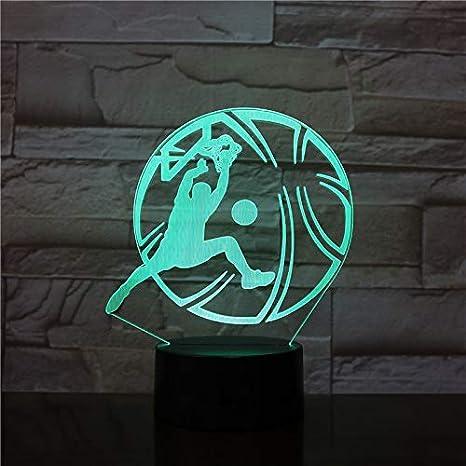 Baloncesto 3D LED luz de noche utilizada para club hogar oficina decoración de la habitación regalos para niños lámpara de mesa colorida para niños