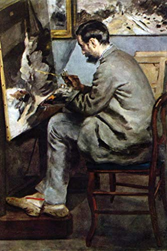 Artist in The Studio of Bazille Pierre-Auguste Renoir 32x48-inch Wall Decal
