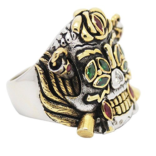 OK-STORE the Expendables 3 Stallone Lucky Ring the Expendables 2 Cosplay Ring in Platinum-plated and Gold-plated, Replica Custom-built Ring