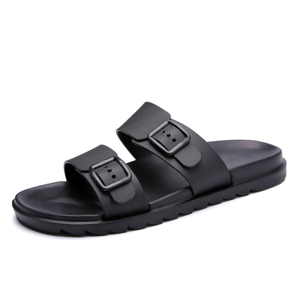 Mens Shoes Mens Sandals Casual New Breathable Anti-Skid Drag Pure Color British Style Soft Bottom Two Wear Beach Outdoor Water Shoes Fashion