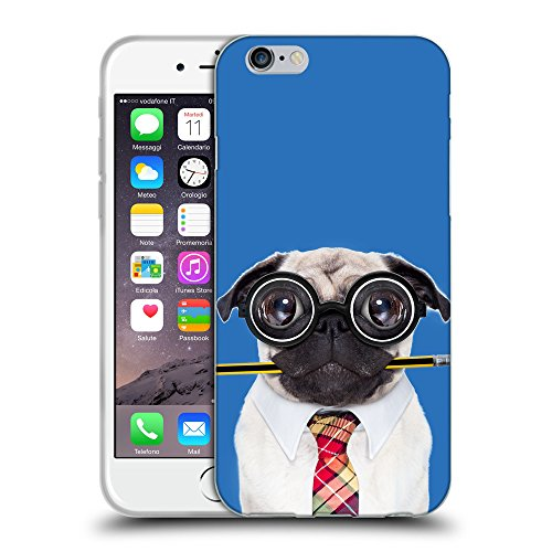 "GoGoMobile Coque de Protection TPU Silicone Case pour // Q05790608 Chien bête stupide Azzurro // Apple iPhone 6 4.7"""