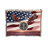 MADE IN USA 50 x 60 US Army Tapestry Blanket