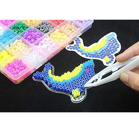 Rompecabezas del juguete de color de 5 mm 24 perlas Perler kit, Hama Beads con plantillas de accesorios para los niños hijos handmaking rompecabezas 3D juguetes educativos para los niños de Kinder: