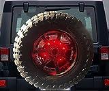 12.5'' Spare Tire LED Lamp Wheel Rear 3rd Brake Decoration Light For Jeep JK TJ JK Wrangler 1986-2017